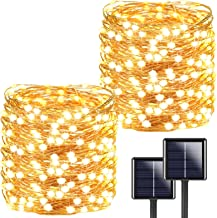 2-Pack Each 72ft 200LED Solar String Lights Outdoor, Super Bright Solar Lights Outdoor (Upgraded Oversize Lamp Beads), Wat...