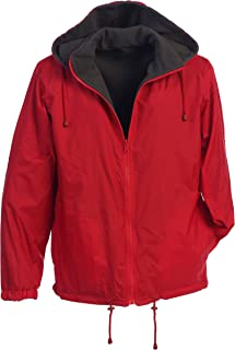 Gioberti Men's Reversible Rain Jacket with Polar Fleece Lining