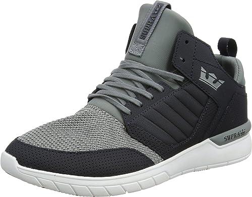 Supra Method chaussures - Dark gris gris blanc UK 7
