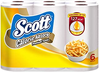 Scott Calorie Absorb Kitchen Towels, 60ct (Pack of 6)