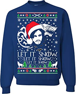 Tutiinca Let IT Snow Jon Snow Sweatshirt, Let IT Snow Sweatshirt, Jon Snow Christmas Sweatshirt.