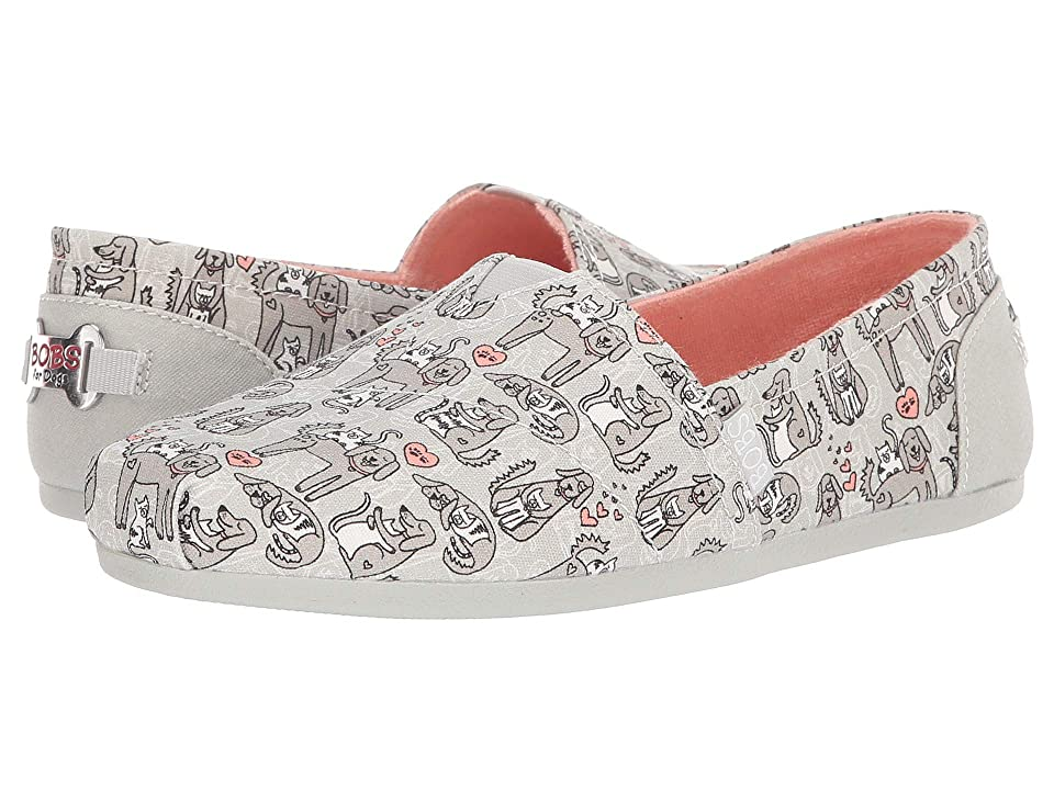 BOBS from SKECHERS Bobs Plush Puppy Love (Light Gray) Women