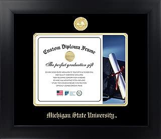 Celebration Frames Michigan State University 8½ x 11 Matte Black Finish Infinity Diploma Frame