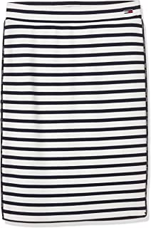 Tommy Jeans Women's Tjw Piping Bodycon Skirt Classic White/Black Iris 100