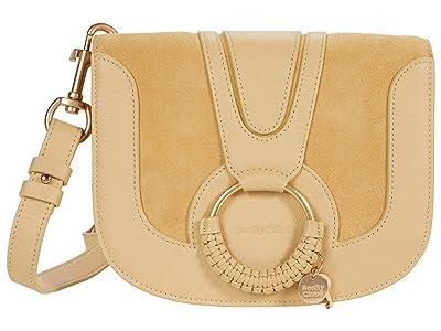See by Chloe Hana Small Suede Leather Crossbody (Seed Brown) Cross Body Handbags