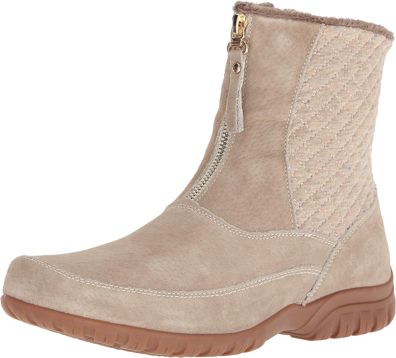 Propet Women's Delaney Mid Zip Calf Boot, Sand, 9 2E US