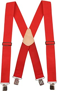 """Hold'Em Heavy Duty Work Suspenders - 2"""" Wide Adjustable with Extra Heavy Strong Sturdy Clips"""