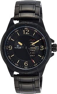 Titan Purple Steel Analog Black Dial Men's Watch-NK1701NM01