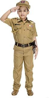 Smuktar garments Kid's Synthetic Indian Police Service Costume Beige, 6-7 Years