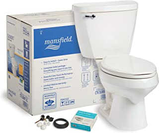 Mansfield Plumbing 382CTK Summit CTK Elongated Front 1.6 GPF Complete Toilet Kit, White