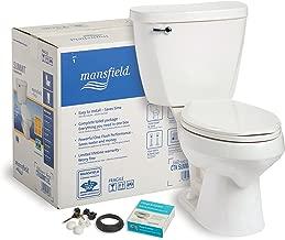 Mansfield Plumbing 382CTK Summit CTK Elongated Front 1.6 GPF Complete Toilet Kit, White