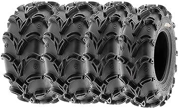 SunF Mud Race Replacement ATV UTV 6 Ply Tires 27x10-12 & 27x12-12 Tubeless A050, [Set of 4]
