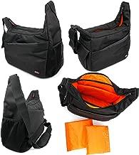 DURAGADGET Durable Shoulder 'Sling' Bag in Black & Orange - Suitable for Bang & Olufsen B&O BeoPlay Beolit 17| Bang & Olufsen B&O BeoPlay A2 Active