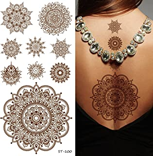 Supperb Temporary Tattoos - Inspired Mandala Healing Yoga Meditation Tattoo