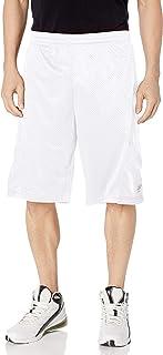 SOUTHPOLE Men's Basic Active Basketball Mesh Shorts, White White