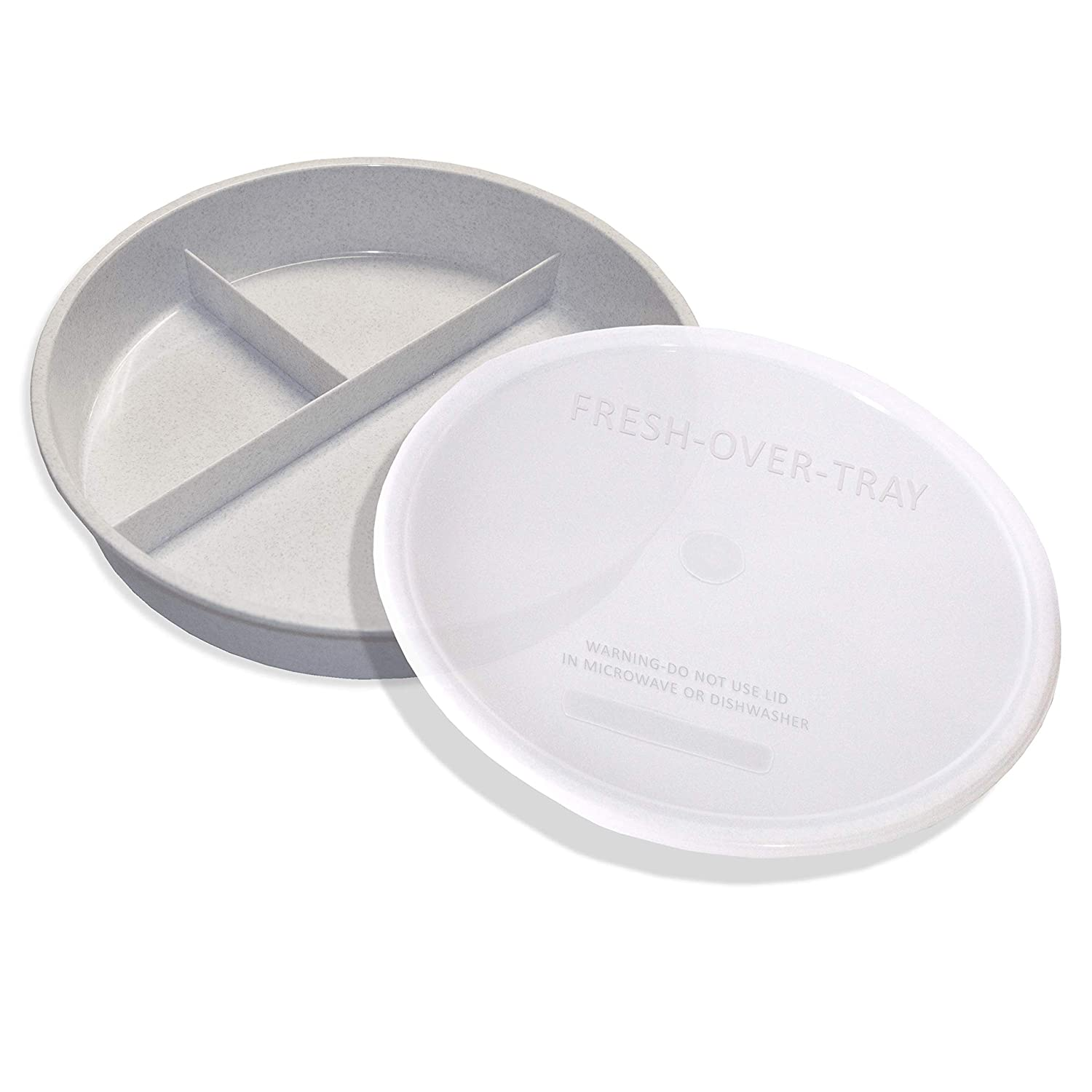 Popular High Finally popular brand Sided Partitioned Lid Dish with