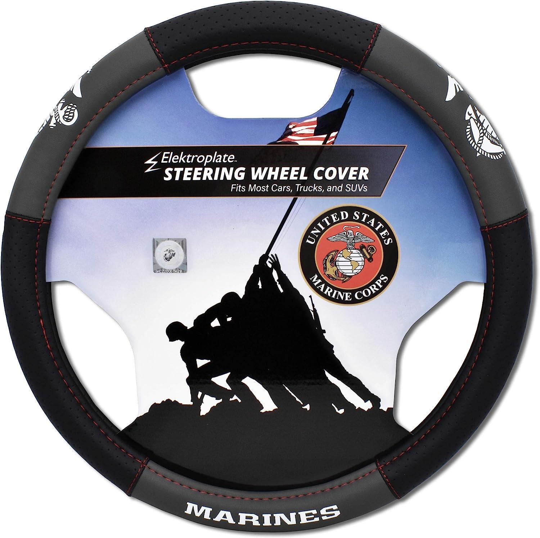Elektroplate US Marines Premium Detroit Mall Steering Cover fi Cheap sale - Large Wheel