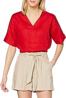 find. T-Shirt Scollo a V Lunga Donna