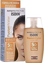 ISDIN - Fotoprotector Fusion Water COLOR SPF 50 - Protector solar facial de fase acuosa con color para uso diario, Cobertura natural, 50 ml