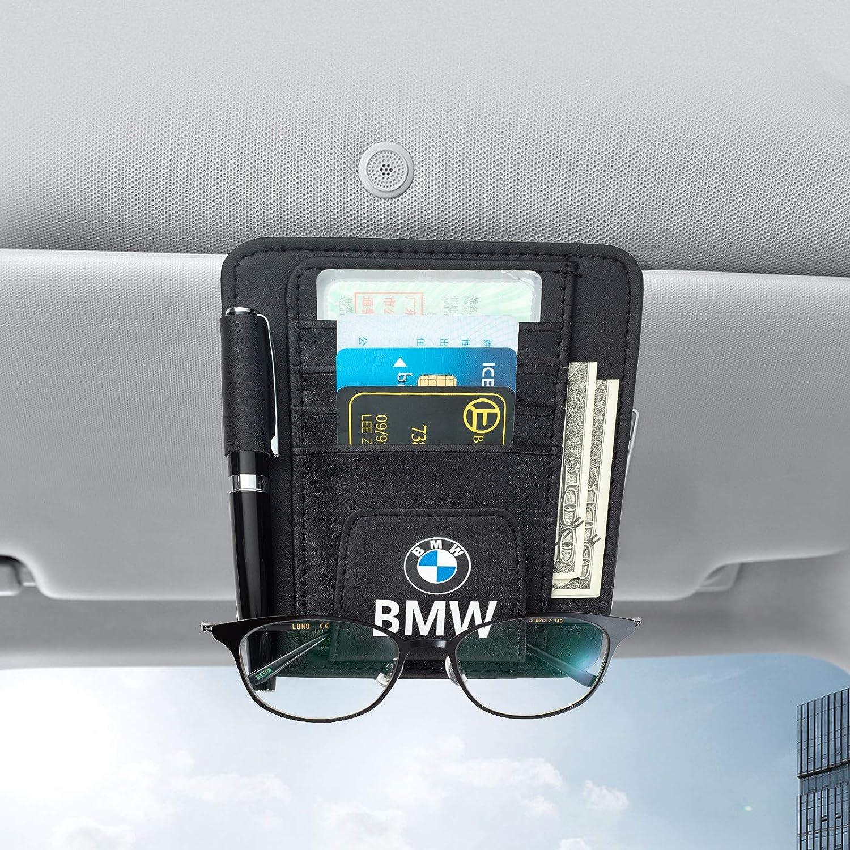 Tsisun Car Sun Visor Organizer Sunglass Holder for BMW/—Interior Accessories Pocket Organizer Storage Pouch Holder