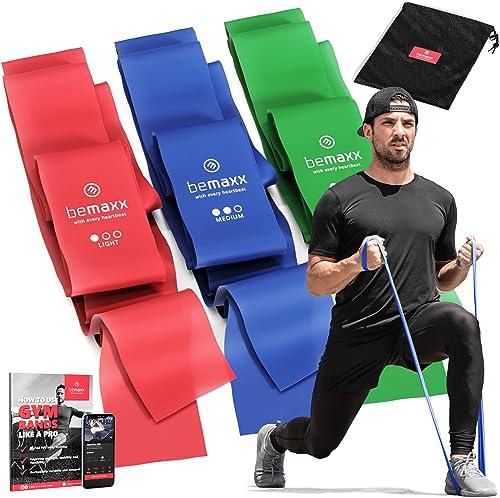 Bandes Élastiques Fitness Set / Extra Longue 2m Elastiband, 3 Niveaux de Résistance + eBook Guide et Sac   Rééducatio...