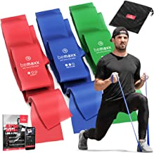 Resistance band - Weerstandsband set van 3 / Extra lange 2m Fitnessbanden + Trainingsgids | Gymnastiekband Fitness Elastis...