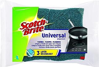 Scotch-Brite Estropajo Laminado XXL Universal con Esponja Celulósica, Compuesto, Azul, 7x8x8 cm, 2 Unidades