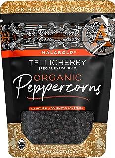 SaltWorks Malabold, Tellicherry Organic Black Peppercorns, 2 Ounce