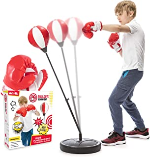 Whoobli Punching Bag for Kids Incl Boxing Gloves | 3-8 Years Old Adjustable Kids Punching..