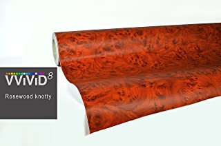 VViViD Knotty Rose Wood Grain Architectural Vinyl Wrap Roll (1.49ft x 48 Inch)