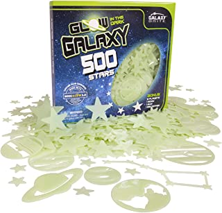 Glow in The Dark Stars for Ceiling, 500-Count, Largest Ceiling Glow Stars Assortment; Includes Bonuses; Jumbo Sun (Supernova), All 9 Planets, Bonus Moon and Entire Big Dipper Constellation