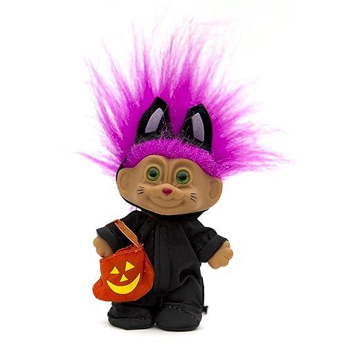 "Excellent Vintage 3/"" Russ Halloween Cat Costume troll"