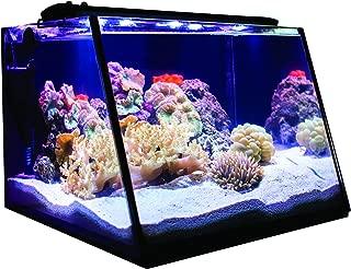 Lifegard Aquatics Full-View 7 Gallon Aquarium with LED Light, Heater, Net, Algae Magnet & Built-in Back Filter with Pump
