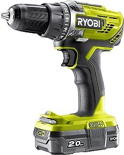 Ryobi R18DD3-120S One Plus Cordless Drill Driver Starter Kit, 18 V, Hyper Green