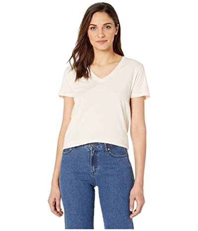 Hurley Solid Perfect V-Neck Tee Shirt (Guava Ice) Women