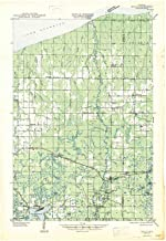 YellowMaps Brule WI topo map, 1:48000 Scale, 15 X 15 Minute, Historical, 1947, 27.29 x 18.85 in
