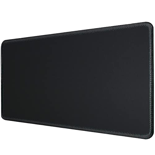 Silent Monsters Alfombrilla ratón tamaño XL (90 x 30 cm), Color Negro con Borde Cosido, Adecuado para ratón de Oficina y para Gaming