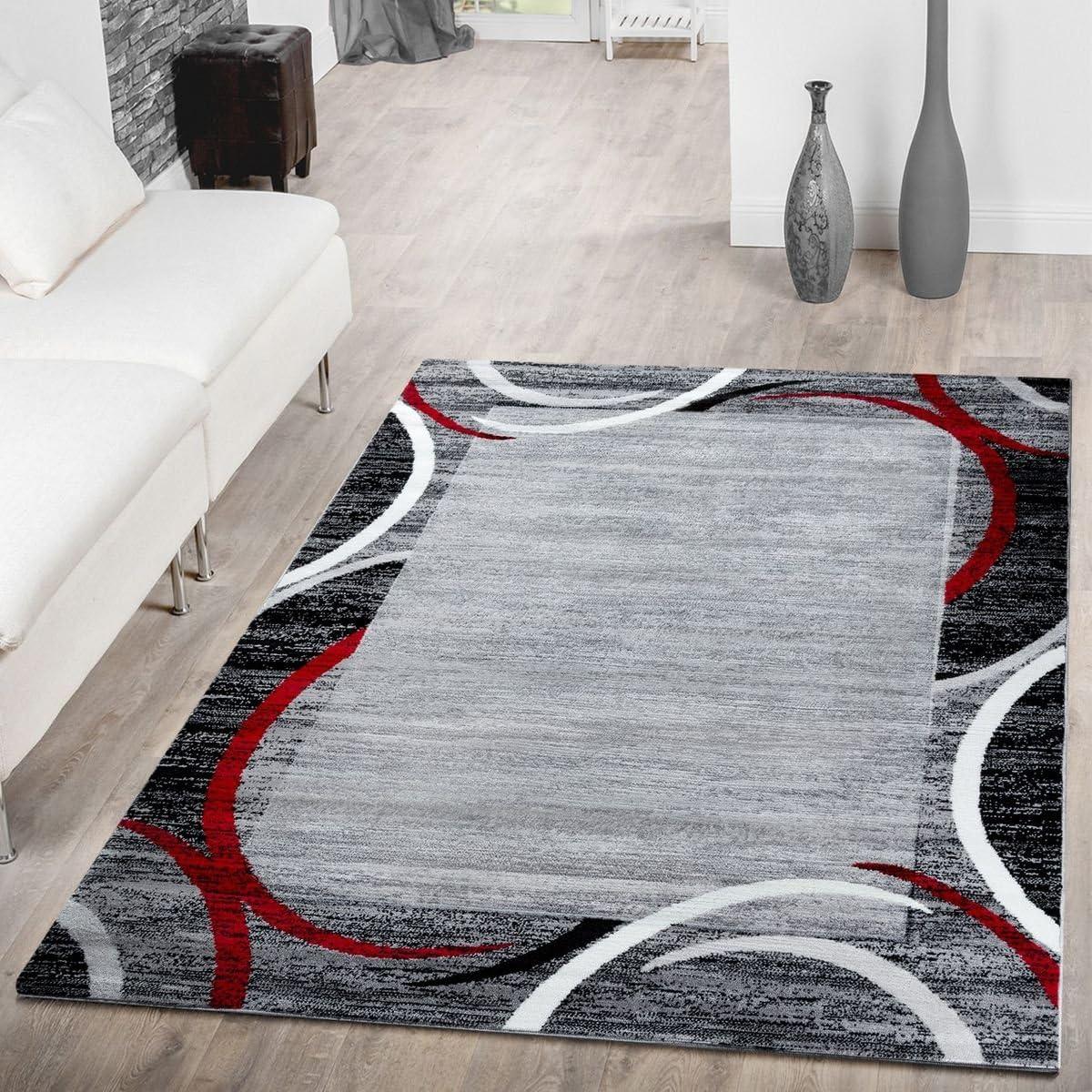 Area Rug for Living メーカー直売 限定タイムセール Room Modern Good Border Value Mot Semicircle