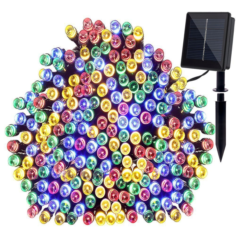garden mile /® Multi-Coloured String Lights 12.7ft 30 LED Crystal Ball Covers Waterproof Outdoor Solar Powered Globe Fairy Orb Lantern Lighting Outside Garden Home Christmas Party Decoration Light