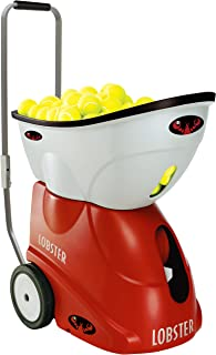 Lobster Sports – Elite Grand Four – Battery-Powered Tennis Ball Machine – Grinder Drill – Six Pre-Loaded Drills – Fully Random Oscillation – 2-Line Feature – Translucent Hopper – 150-Ball Capacity