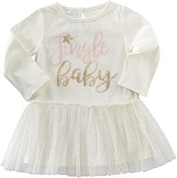 Mud Pie - Jingle Baby Mesh Overlay Dress (Infant)