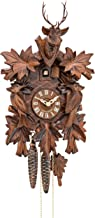 Cuckoo Clock 7 leaves, 2 birds, head of a deer KA 1613 HK