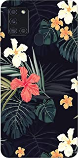 sharpeseller multi colour flower-2 printed soft designer mobile back cover for samsung galaxy a21s