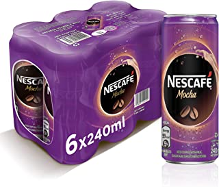 Nescafe Ready To Drink Mocha Chilled Coffee, 240ml (6 cans)