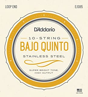 D'Addario Bajo Quinto Stainless Steel Set (EJS85)