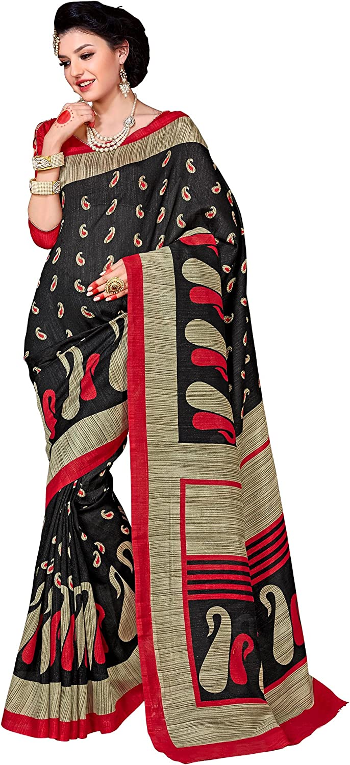 Samskruti Sarees Art Silk Saree (Svim9028_Black)