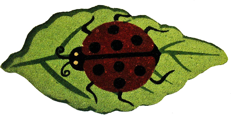 (Ladybug) - Geo Crafts 46cm x 80cm PVC Backed Coir Doormat, Ladybug