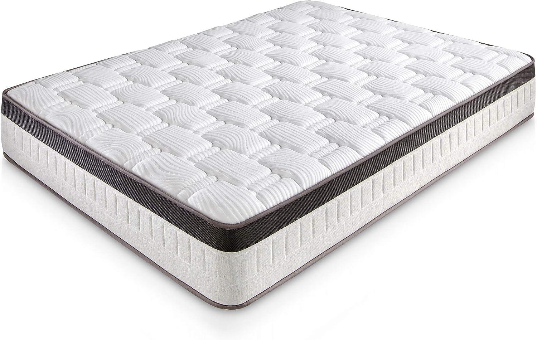 Colchón Supreme 150X190 Viscoelástico | 27 cm de altura | Viscoelástica | Foam AirSistem | Tratamiento SANITIZED®
