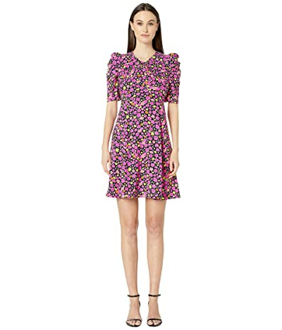 Kate Spade New York Marker Floral A-Line Dress (Black) Women