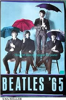 Beatles '65 colorized umbrellas POSTER 14.5 x 21 John Lennon Paul McCartney higher qual (sent FROM USA in PVC pipe)
